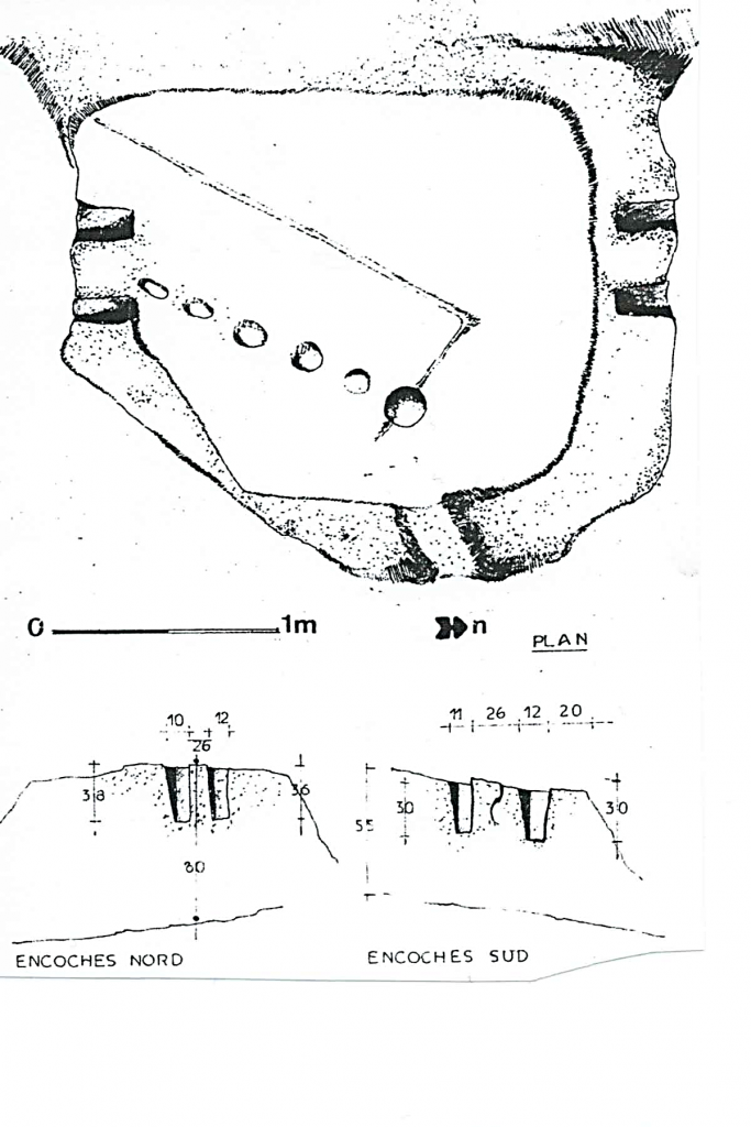 Plan du pressoir n°2 de Marzials (par Eliane Hedan, 1980)